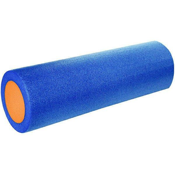 Ролик для йоги полнотелый 2-х цветный сине/оранжевый 45х15см PEF100-45-2