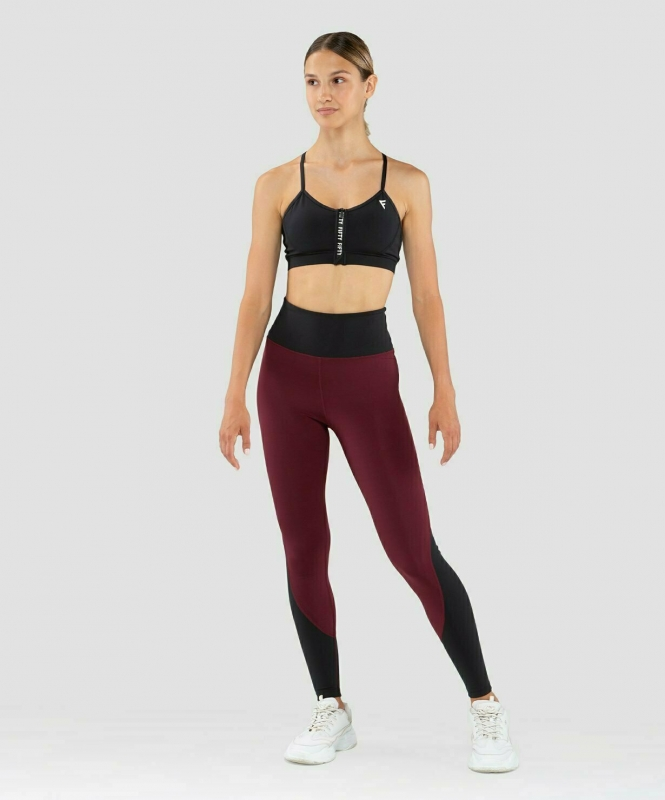 Женские спортивные леггинсы Balance FA-WH-0107, бордовый, FIFTY