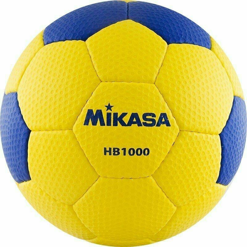 Мяч гандб. MIKASA HB 1000 , синтетическая кожа , р. 1, руч. сшивка, желто-синий