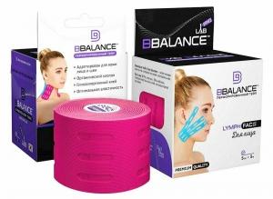 Перфорированный тейп для лица BB LYMPH FACE™ 5 см х 5 м розовый
