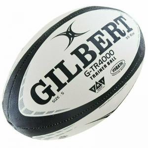 Мяч для регби GILBERT G-TR4000 арт.42097705, р.5, резина, ручная сшивка, бело-черно-серый