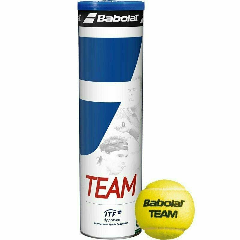 Мяч теннисный BABOLAT Team 4B,арт.502035, уп.4 шт,одобр.ITF,фетр,нат.резина,желтый