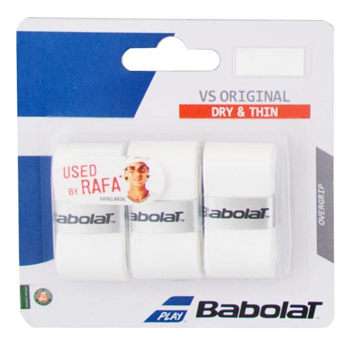 Овергрип BABOLAT VS Grip Original x3, арт.653040-101, упак. по 3 шт, 0.43 мм, 110см, белый