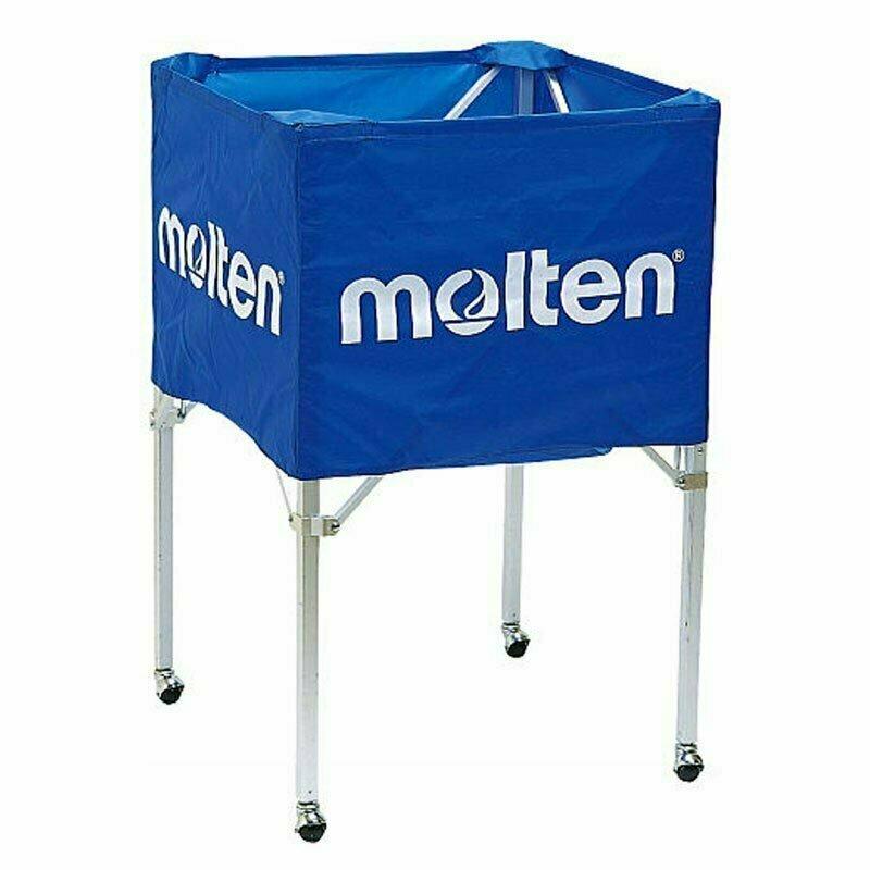 Корзина для мячей MOLTEN , арт.BK0012-B, на 15-18 баск.мячей,ДхШхВ 64х64х75,син-бел