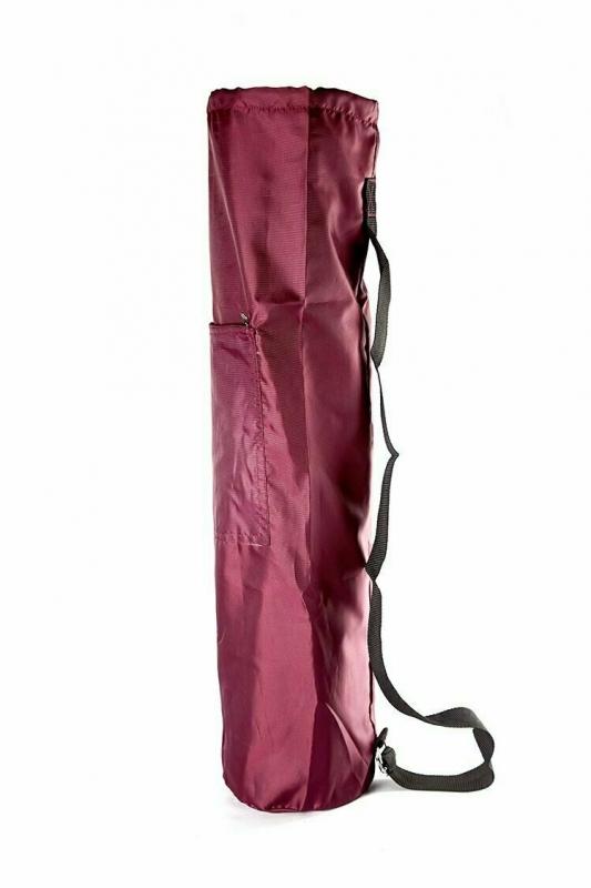 Чехол для коврика Симпл с карманом  RamaYoga 167708 бордо, 60 см, диам. 15 см, 0.1 кг