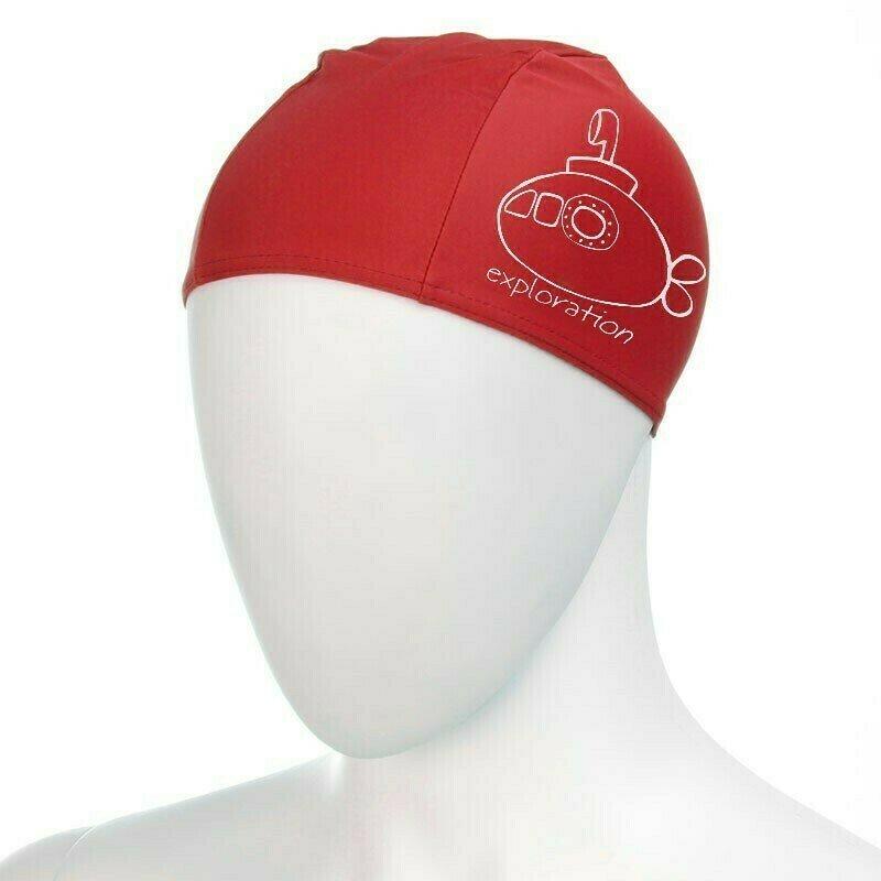 Шапочка для плавания детская  FASHY Polyester kids Printed Cap , арт.3220-00-40, полиэстер, красный