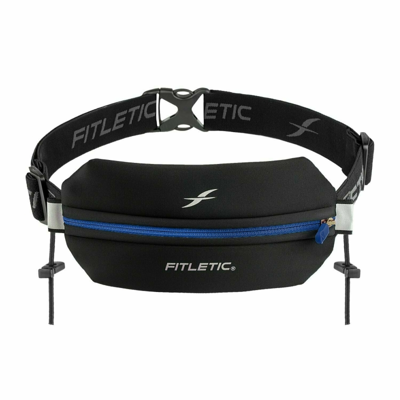 Беговая сумка на пояс FITLETIC Neo Racing, черно-синий