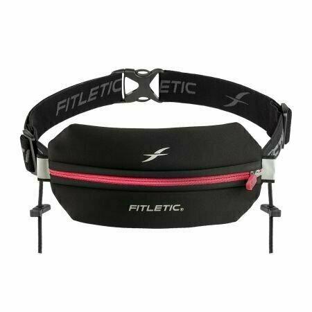 Беговая сумка на пояс FITLETIC Neo Racing, черно-розовый