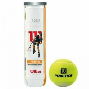 Мяч теннисный WILSON Tour Practice арт. WRT114500, техн. NanoPlay, пласт. банка 4 мяча