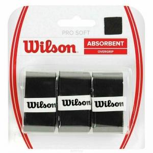 Овергрип Wilson Pro Soft Overgrip, арт. WRZ4040BK, 0,5 мм, размер 2,5см*120см,3 шт, черный