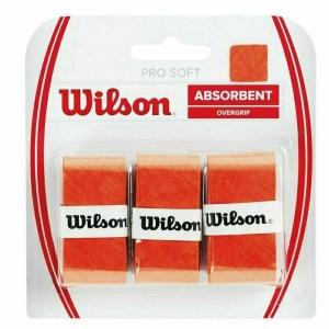 Овергрип Wilson Pro Soft Overgrip, арт. WRZ4040OR, 0,5 мм, размер 2,5см*120см,3 шт, темно-оранжевый
