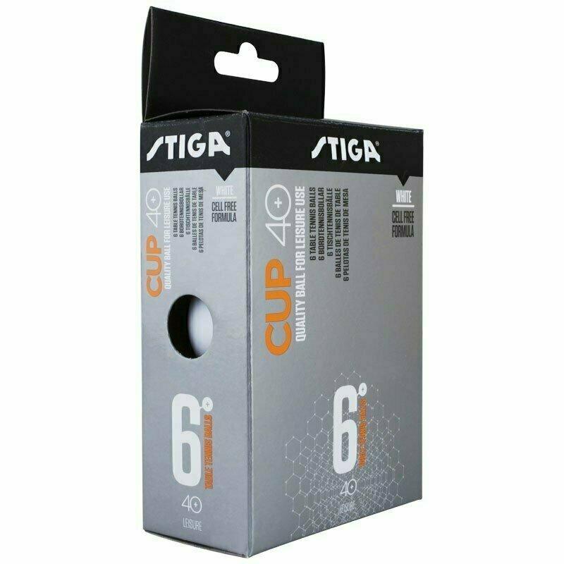 Мяч для настольного тенниса Stiga Cup ABS, арт.1110-2510-06, диам.40+мм, пластик, упак. 6 шт, белый