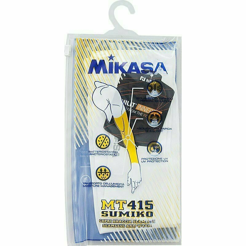 Нарукавник волейб. MIKASA , арт. MT415-022, one size, полиамид, полиэстер, эластан, белый