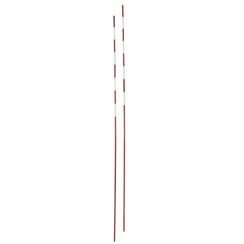 Антенны волейбольные  EL LEON DE ORO арт.94195000099, под карманы, 1.8 м, фиберглас, красно-белые
