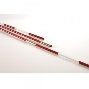 Антенны волейбольные разборные EL LEON DE ORO арт.94199900099, под карманы, 1.8 м, фиберглас, красно-белые