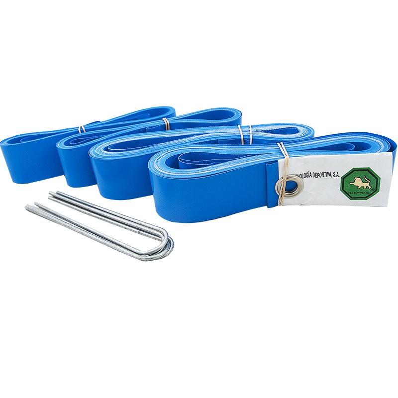 Комплект для разметки площадки для пляжного волейбола  EL LEON DE ORO арт.94995000003,ПВХ,шир.5,0 см,8х16 м, синий