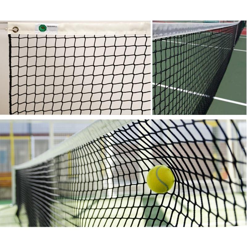Сетка теннисная  EL LEON DE ORO , арт.13443004501, нить 3мм ПП, верх.лента ПП,черный