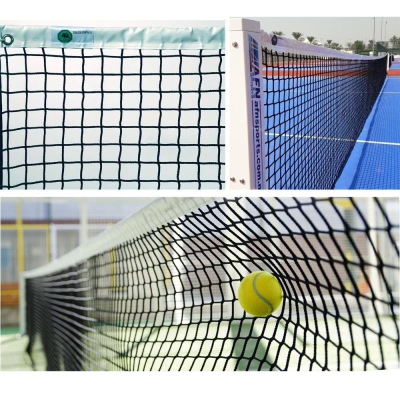 Сетка теннисная  EL LEON DE ORO , арт.13444004501, нить 4 мм ПП, верх.лента ПП, черный