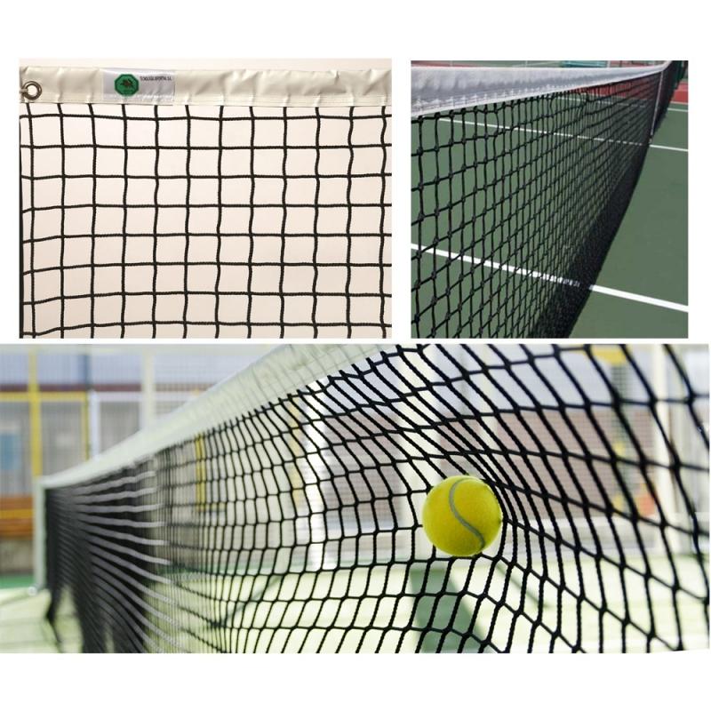 Сетка теннисная  EL LEON DE ORO , арт.13444504501, нить 4мм ПП, верх.лента ПП, черный