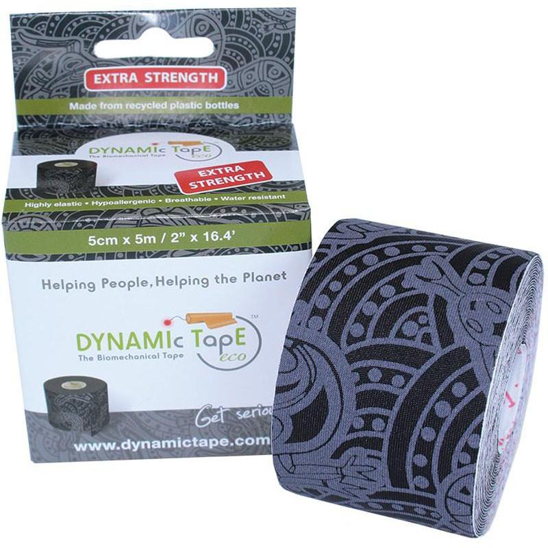 Тейп динамический Dynamic Tape ECO, арт. DT50TTEB, шир. 5 см, дл. 5 м, черный/серое тату