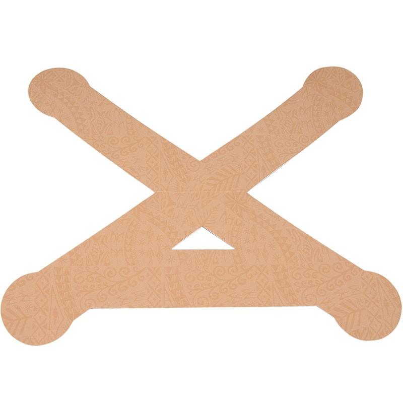 Тейп динамический PosturePals X tape, арт. PP-X-TL, преднарезка, р. L, 5 шт. в уп., телесный DYNAMIC