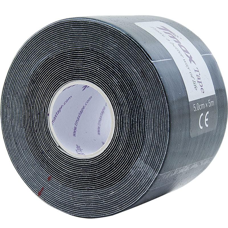 Тейп кинезиологический Tmax Extra Sticky Black (5 см x 5 м), арт. 423143, черный
