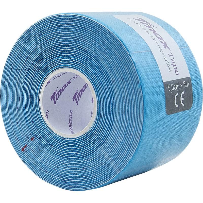 Тейп кинезиологический Tmax Extra Sticky Blue (5 см x 5 м), арт. 423129, голубой