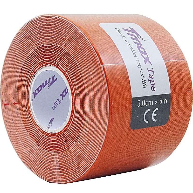 Тейп кинезиологический Tmax Extra Sticky Orange (5 см x 5 м), арт. 423167, оранжевый