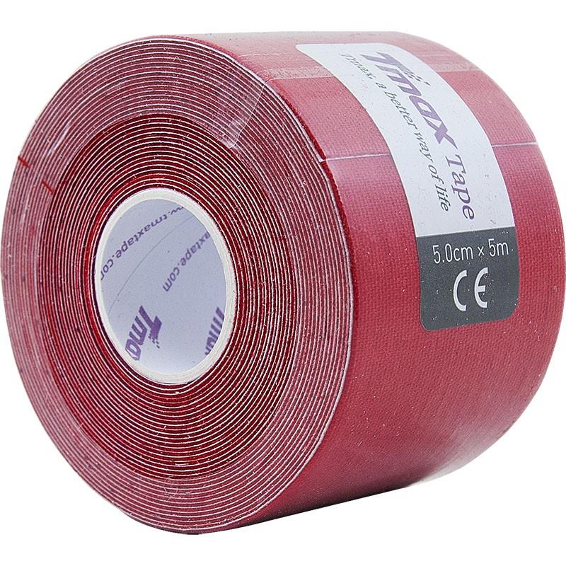 Тейп кинезиологический Tmax Extra Sticky Red (5 см x 5 м), арт. 423150, красный