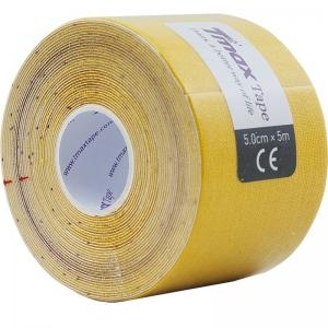 Тейп кинезиологический Tmax Extra Sticky Yellow (5 см x 5 м), арт. 423174, желтый