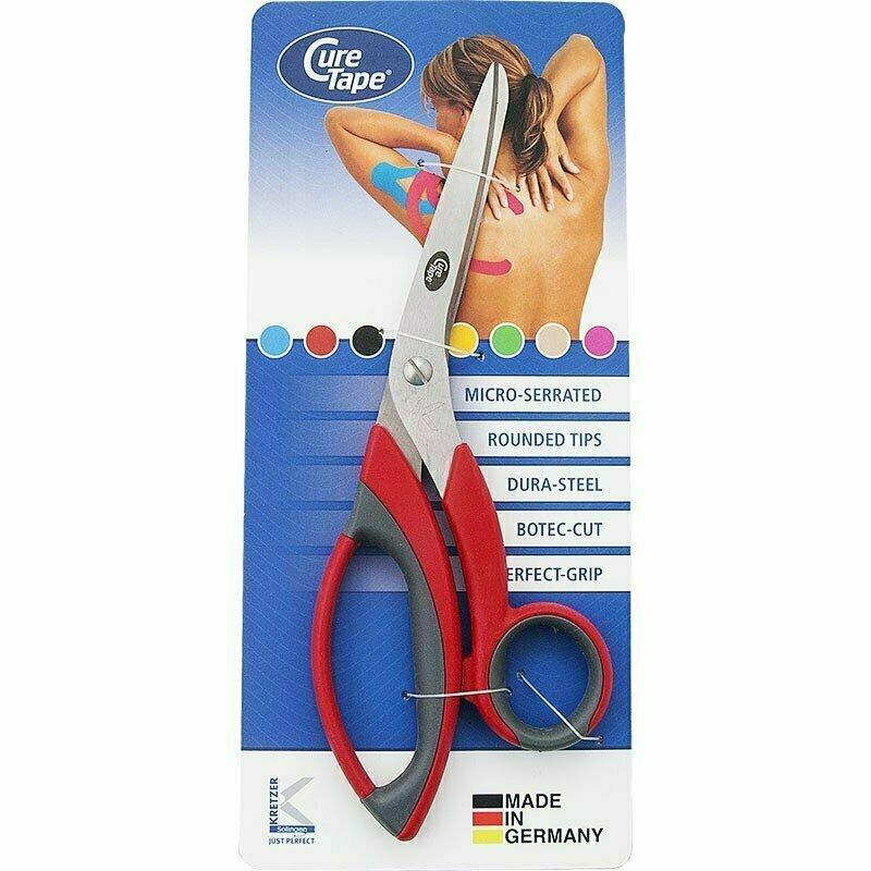 Ножницы для тейпов CureTape HQ, арт. 260205, нерж. сталь, тефлон. покр., красные