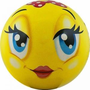 Мяч детский  Funny Faces , арт.DS-PP 203, диаметр 12 см, пластизоль, желтый PALMON