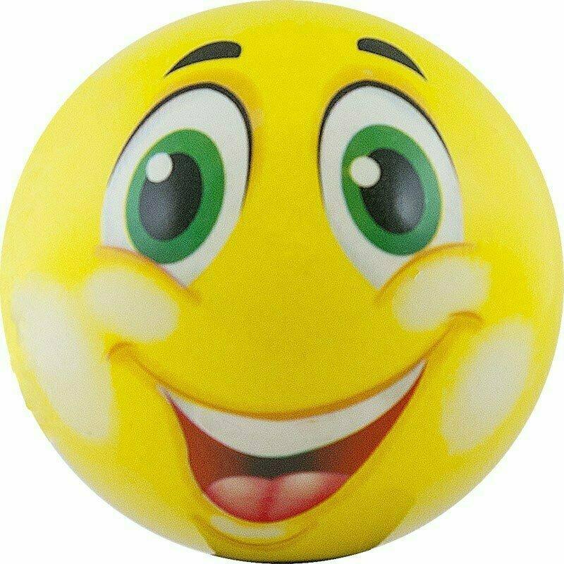 Мяч детский  Funny Faces , арт.DS-PP 205, диаметр 12 см, пластизоль, желтый PALMON