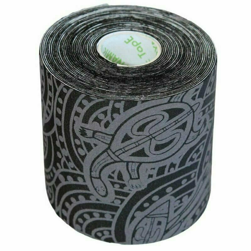 Тейп динамический Dynamic Tape ECO, арт. DT75TTEB, шир. 7,5 см, дл. 5 м, черный/серое тату
