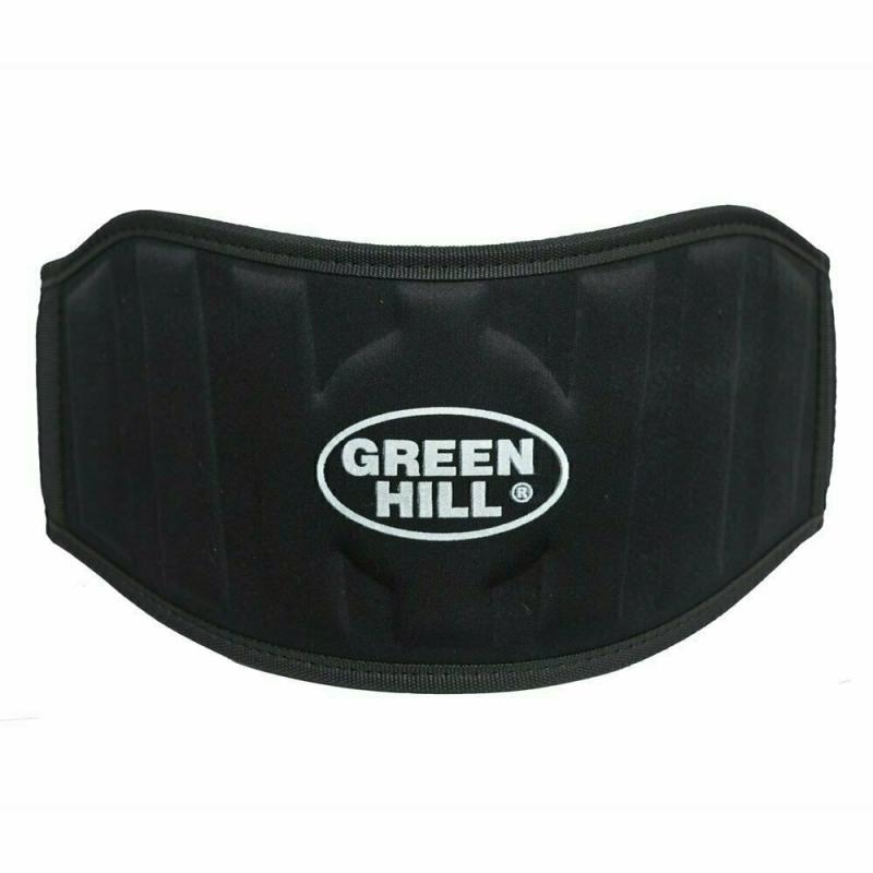 Пояс тяжелоатлетический GREEN HILL арт. WLB-6732A-S, р.S (дл. 90 см), шир. 15 см, тканый, черный