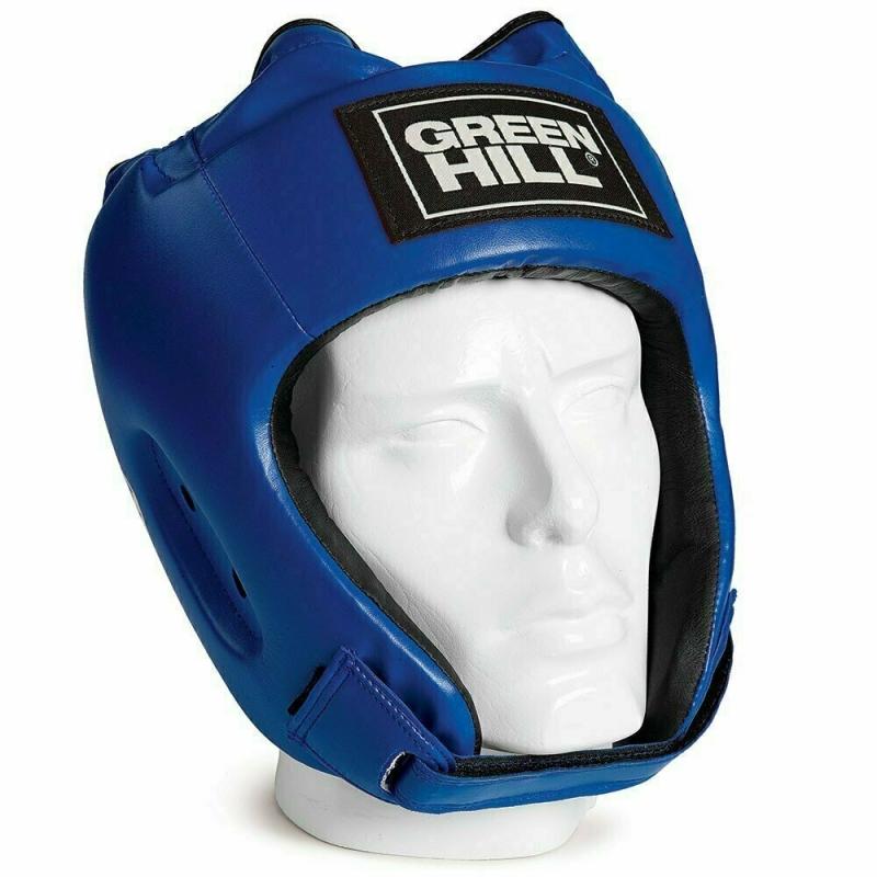 Шлем GREEN HILL ALFA арт. HGA-4014-L-BL, р.L, иск. кожа ПУ, синий