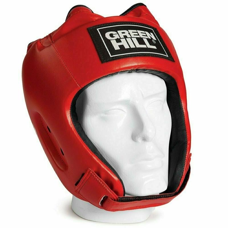 Шлем GREEN HILL ALFA арт. HGA-4014-XL-RD, р.XL, иск. кожа ПУ, красный