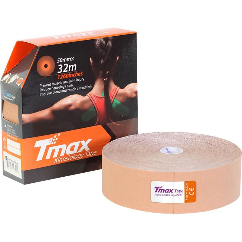 Тейп кинезиологический Tmax 32m Extra Sticky Biege (5 см x 32 м), арт. 423211, телесный
