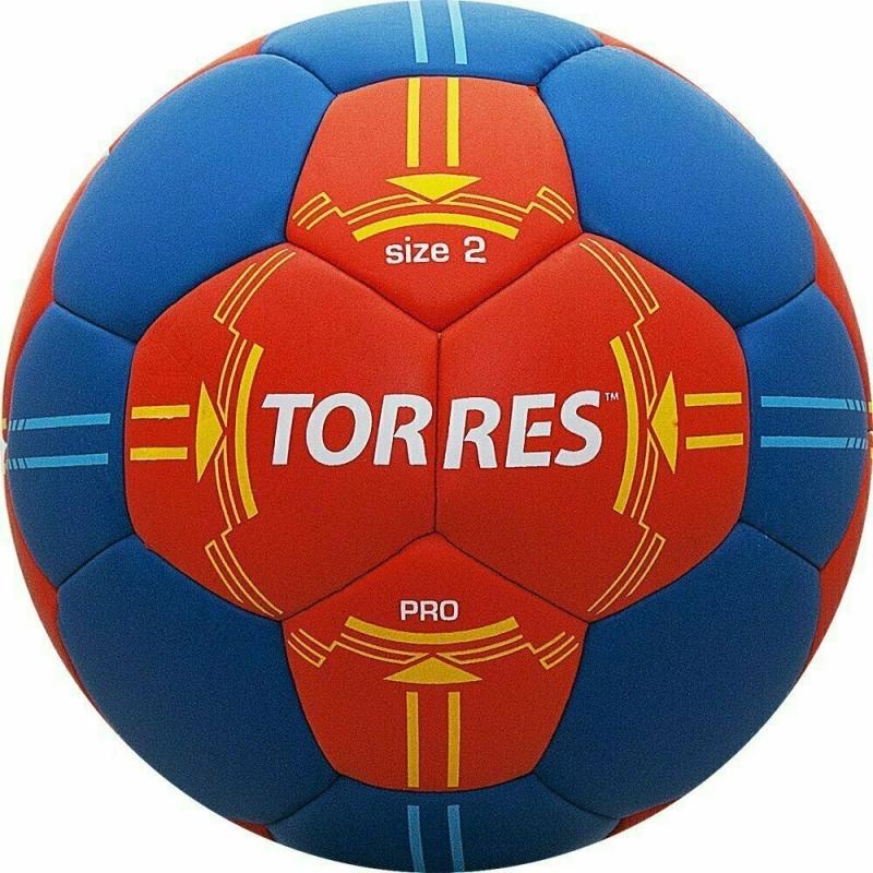 Мяч гандбольный  TORRES PRO арт.H30062, р.2, ПУ, 4 подкл. слоя, оранжево-синий
