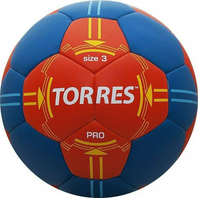 Мяч гандбольный  TORRES PRO арт.H30063, р.3, ПУ, 4 подкл. слоя, оранжево-синий