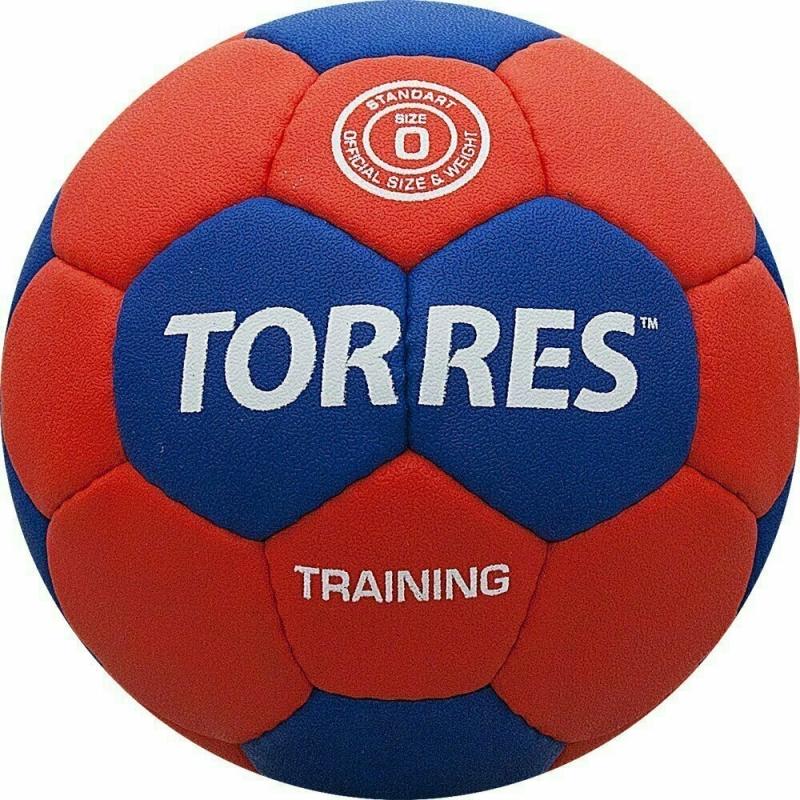 Мяч гандбольный  TORRES Training арт.H30050, р.0, ПУ, 4 подкл. слоя, красно-синий