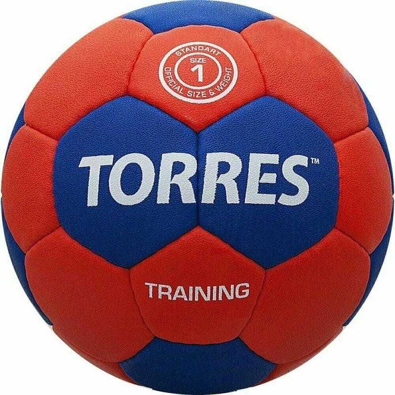 Мяч гандбольный  TORRES Training арт.H30051, р.1, ПУ, 4 подкл. слоя, красно-синий