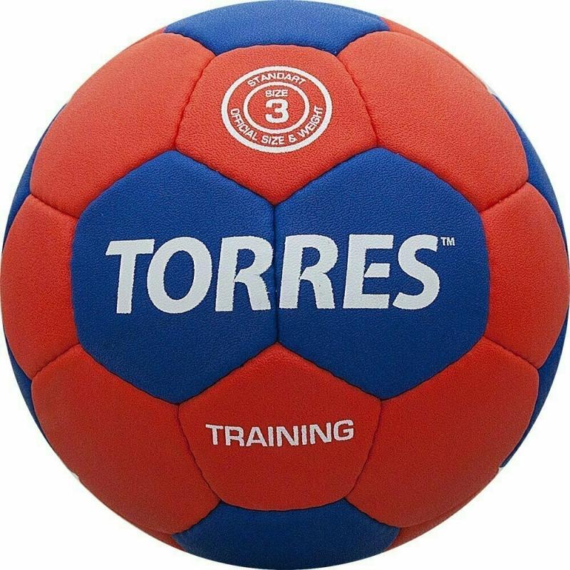 Мяч гандбольный  TORRES Training арт.H30053, р.3, ПУ, 4 подкл. слоя, красно-синий
