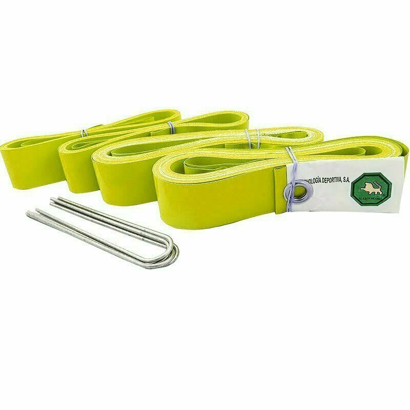 Комплект для разметки площадки для пляжного волейбола  EL LEON DE ORO арт.94995000006,ПВХ,шир.5,0 см,8х16 м, желтый