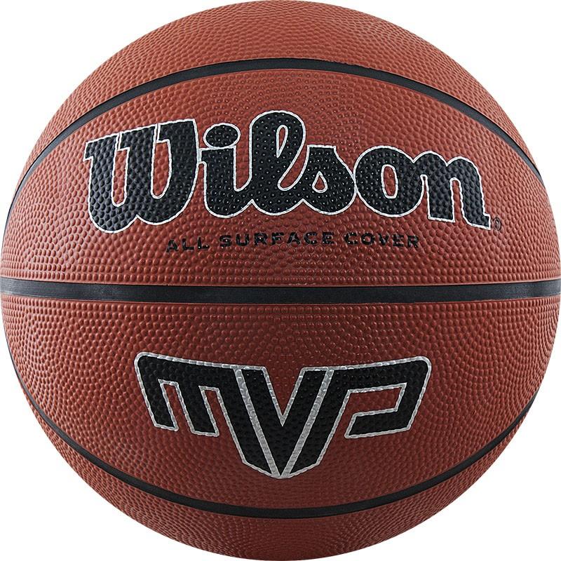 Мяч баскетбольный WILSON MVP, арт.WTB1419XB07, р.7, резина, бутил.камера, коричневый