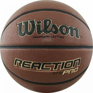 Мяч баскетбольный WILSON Reaction PRO, арт.WTB10139XB05, р.5, синт. PU, бутиловая камера , темно-коричневый