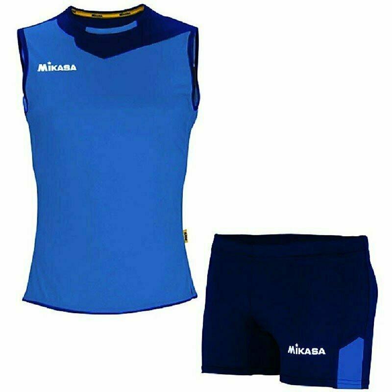Форма волейбольная женская  MIKASA , арт. MT244-0100-XL, р.XL, 100% полиэстер, темносине-синий