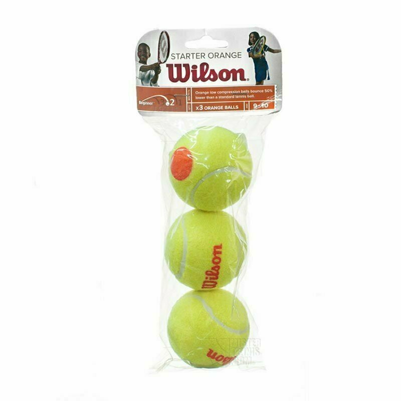Мяч теннисный WILSON Starter Orange, арт. WRT137300, одобр.ITF, фетр, нат.рез, уп.3шт,желто-оранж