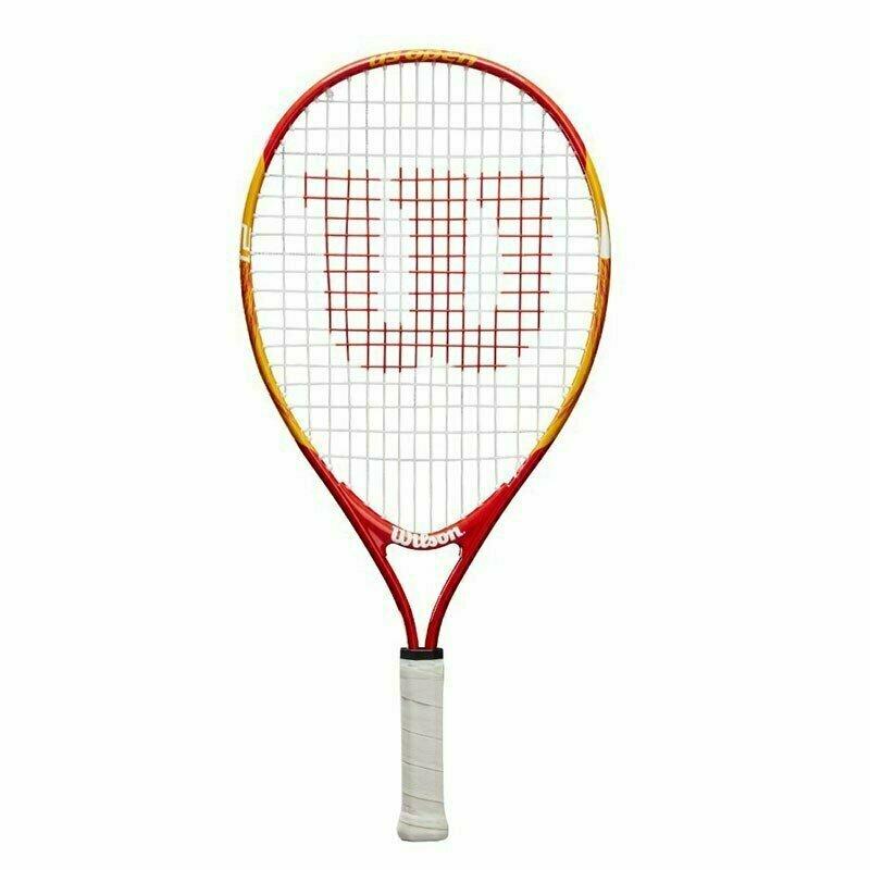 Ракетка теннисная Wilson US OPEN 21, арт. WRT20310U,для 5-6 лет,алюминий,со струнами, оранжево-красный