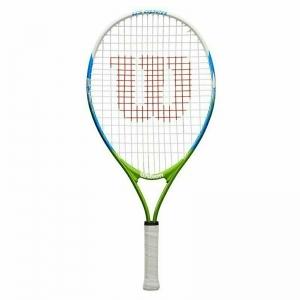 Ракетка теннисная Wilson US OPEN 23, арт. WRT20320U,для 7-8 лет,алюминий,со струнами, бело-сине-зеленый